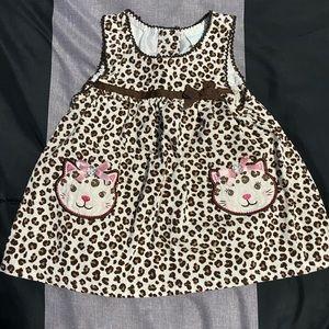 Baby girls 👧 leopard print corduroy dress